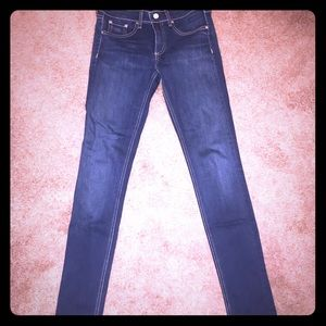 Rag & Bone Skinny Jeans Bedford Wash, Sz 27